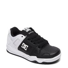 02d3459fb711 DC Shoes Kids  Stag Skate Shoe Pre Grade School Shoes (Black White