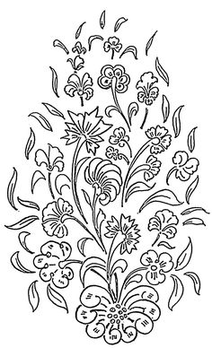 Simple floral designs for glass painting on pictagram patterns flower thecheapjerseys Choice Image