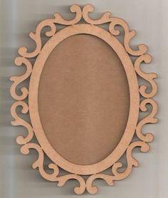 moldura espelho oval arabesco 42cm com fundo mdf