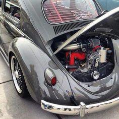 VW with Subaru engine. Vw Super Beetle, Engine Swap, Motor Engine, Engine Rebuild, Vw Cars, Hot Bikes, Vw Beetles, Subaru, Dream Cars