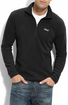 Patagonia 'Micro D-Luxe' Fleece Quarter Zip Pullover available at #Nordstrom