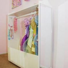 Dress Up Wardrobe DIY {Pretend Play & Dress Up}