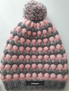 baby hat... Pink&Grey