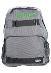 Head to work or college in style with the Tropicana Life Bagpack With Laptop Compartments! This trusty backpack is made from durable canvas, has a main zip compartment, external zip compartments, side mesh pockets, padded back, adjustable backpack straps, embroidered logo on front and velcro straps to strap on your skateboard. Also featuring fully lined inner with laptop compartment.  Colour: White Bag Size: L: 29cm x W: 19cm x H: 41cm