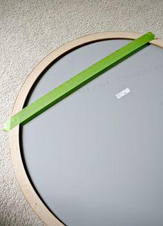 Easy painter's tape trick for hanging art