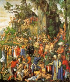 Albrecht Dürer : Martyrdom of ten thousand Christians (Kunsthistorisches Museum) アルブレヒト・デューラー Christian Canvas Art, List Of Paintings, Kunsthistorisches Museum Wien, Albrecht Dürer, Picture Tiles, Renaissance Kunst, Hans Holbein, Tile Murals, Wall Tiles