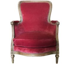 Antique 19th Century French Bergère Armchair Front View