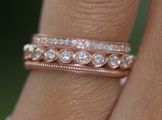 gorgeous rose gold stack; I love rose gold; no, I am obsessed with rose gold