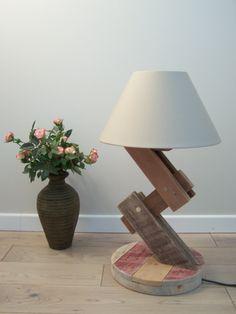 Lampe à poser bois : Luminaires par recyclandeco