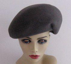 Vintage GREY FELT HAT 1960s by vintagous on Etsy, $18.00