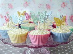 Peachy white chocolate gluten-free cupcakes by Torie Jayne