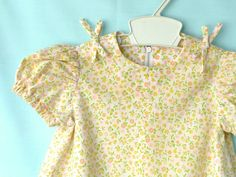 Vintage 70's Cute Yellow Calico Infant  Dress by StarrChildVintage, $16.00