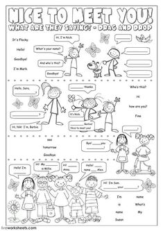 Greetings and farewells interactive and downloadable worksheet. You can do the exercises online or download the worksheet as pdf.