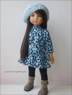 Outfit doll Tenue de poupée Little Darling Effner Handemade (Magda)