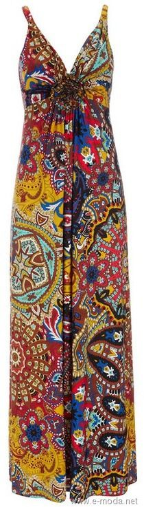 maxi vestido estampado pañuelo