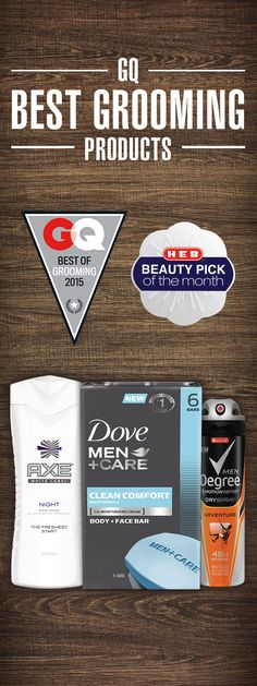 Even tough Texas men like to keep it fresh. H‑E‑B has all the men's grooming essentials to help. H‑E‑B carries the best in Dove Men+Care, AXE, Vaseline Men and Degree. With everything from skin care, hair care and body care to keep the men in your life ready for any occasion. See H-E-B Beauty Panel reviews.