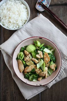 Bok Choy Chicken Recipe | Easy Asian Recipes http://rasamalaysia.com