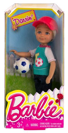 Darrin w/ Soccer Ball: Barbie Chelsea & Friends Summer Dreamhouse Collection Doll Figure. mini boy doll with soccer ball. Barbie Doll Set, Barbie Sets, Mattel Barbie, Ken Doll, Barbie Sisters, Barbie Family, Barbie Kelly, Barbie And Ken, Accessoires Barbie