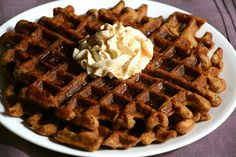 Grain-Free Carrot Cake Waffles