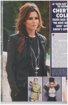 Cheryl Cole wearing Chlobo Rosary Necklace, Dog Tag Necklace, Cheryl Cole, Rock Chic, Bangles, Jewellery, Celebrities, How To Wear, Fashion
