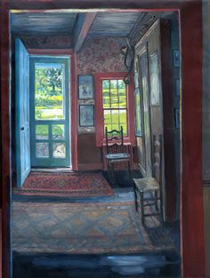 Hector McDonnell, Irish artist, from the exhibition 'Great Interiors' at Delahunty Fine Art, London