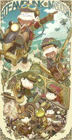 Osomatsu-san: Osomatsu, Karamatsu, Choromatsu, Ichimatsu, Jyushimatsu and Todomatsu