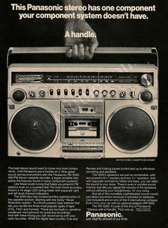 "PANASONIC Rx-5500 Boombox Ad ""Stereo's With A Handle"""