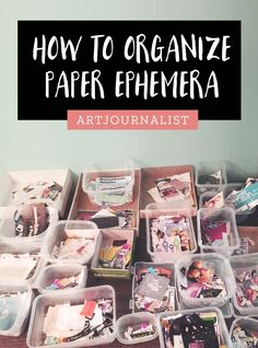 paper ephemera sorting and storage