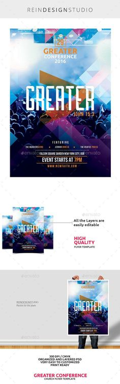Passion Worship Conference 2016 This flyer is perfect for promoting your Church Worship events. Passion Worship Conference PSD file Print Ready Layers are well organized Picture is not included in the Main File Link to the fonts are included in the he Fashion Design Template, Web Design, Flyer Design Templates, Flyer Template, Layout Design, Creative Design, Flyer Inspiration, Graphic Design Inspiration, Church Graphic Design
