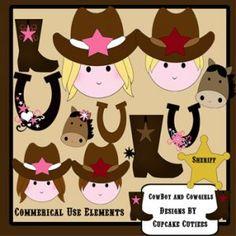 scrapbooking cowgirl cowboy   Cowgirl Cowboy Elements