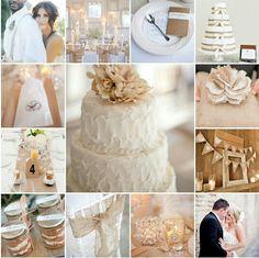 Burlap, Rustic Wedding