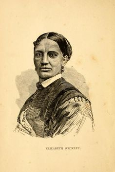 "Illustration of dressmaker Elizabeth Keckley from her 1868 autobiography, ""Behind the Scenes."""