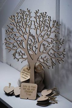 Wishing Tree Small Wooden Guest Book small wishing tree guest book by craft heaven Wedding Tree Guest Book, Guest Book Tree, Tree Wedding, Diy Wedding, Wedding Day, Guest Books, Popular Tree, Laser Art, Hanging Hearts