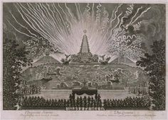 Jean Le Pautre (1618-1682) - Les Divertissements de Versailles: Cinquième journée (le 18 août 1674) – Feu d'artifice sur le canal de Versailles – Paris, Bibliothèque Nationale de France