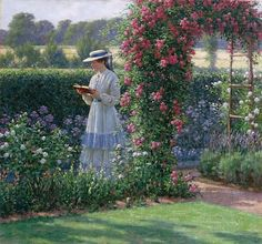 Edmund Blair Leighton (UK, 1853-1922) - Sweet Solitude (Dulce soledad), 1919. Óleo sobre lienzo