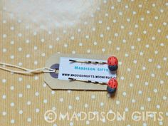 Ladybird Hair Pins Cute Hair Grips, Ladybug Hair Clips Slides Hair Accessories Little Gifts (Set of 2) by MaddisonGifts on Etsy