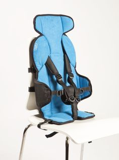Blue Firefly GoTo seat providing additional postural support for children with special needs.
