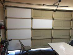 Cellofoam Garage Door Insulation Kit Door Insulation Kit - 8 pcs - The Home Depot - User submitted photo garage-organization-hacks - Garage Door Makeover, Garage Renovation, Garage Interior, Garage Remodel, Garage Furniture, Garage Door Design, Garage Doors, Double Garage Door, Garage Cabinets