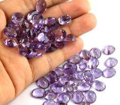 10Pcs Purple Amethyst 9x11mm Oval Shape Normal Cut Jewelry Making Loose Gemstone #Empressbeads