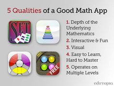 What would you add? 10 math apps that have ALL of these qualities.