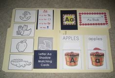 Tot-School – Letter Aa Lapbook | One Little, Two Little