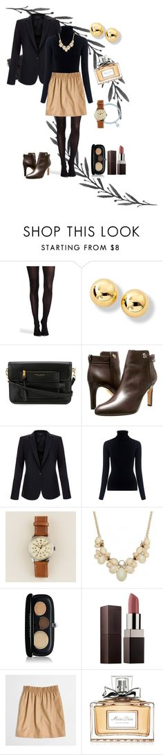 """""""Fall formalities"""" by marijime-paperdoll ❤ liked on Polyvore featuring SPANX, Marc Jacobs, Tory Burch, Equipment, M.i.h Jeans, J.Crew, Laura Mercier, Christian Dior, Fall and outfit"""