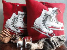 Beautiful thick Winter Wonderland pillows (WWL30) of Claire and Eef. Size 50 x 50 cm with filling.