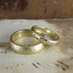 Beaten Wedding Rings - lovely finish by Alexis, gorgeous!