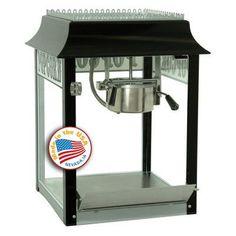 Paragon 1911 4 oz. Black/Chrome Popcorn Machine - 1104820, Durable