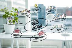 conceitos de design Web com fundo borrado Foto gratuita                                                                                                                                                                                 Mais