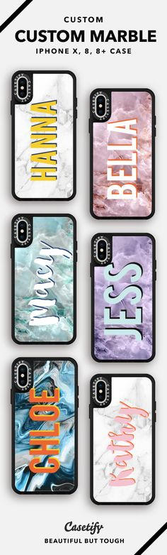 We just can't get enough of these Custom Marble iPhone Cases! Available in a variety of colours and iPhone sizes --> Get yours now, only on our Casetify website Cases Iphone 6, Iphone 7, Diy Phone Case, Coque Iphone, Marble Iphone Case, Marble Case, Cute Cases, Cute Phone Cases, Mobile Cases