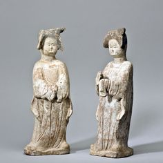 A&J Speelman Oriental Art | Chinese | Early Ceramics | A pair of unglazed standing 'fat' ladies