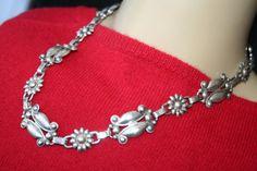 HALF OFF...Vintage Sterling Silver Flower by 911VintageAddiction