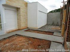 Construindo Minha Casa Clean: Muros da Fachada Prontos!!! Cortineiros e Cuba da Suíte!